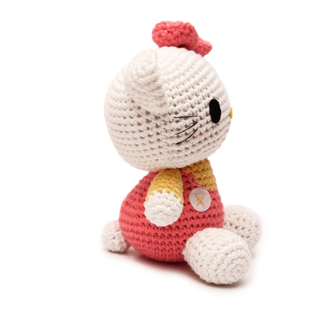 Crochet Doll Hat Pattern Free : Pink Hello Kitty Handmade Amigurumi Stuffed Animal Toy ...