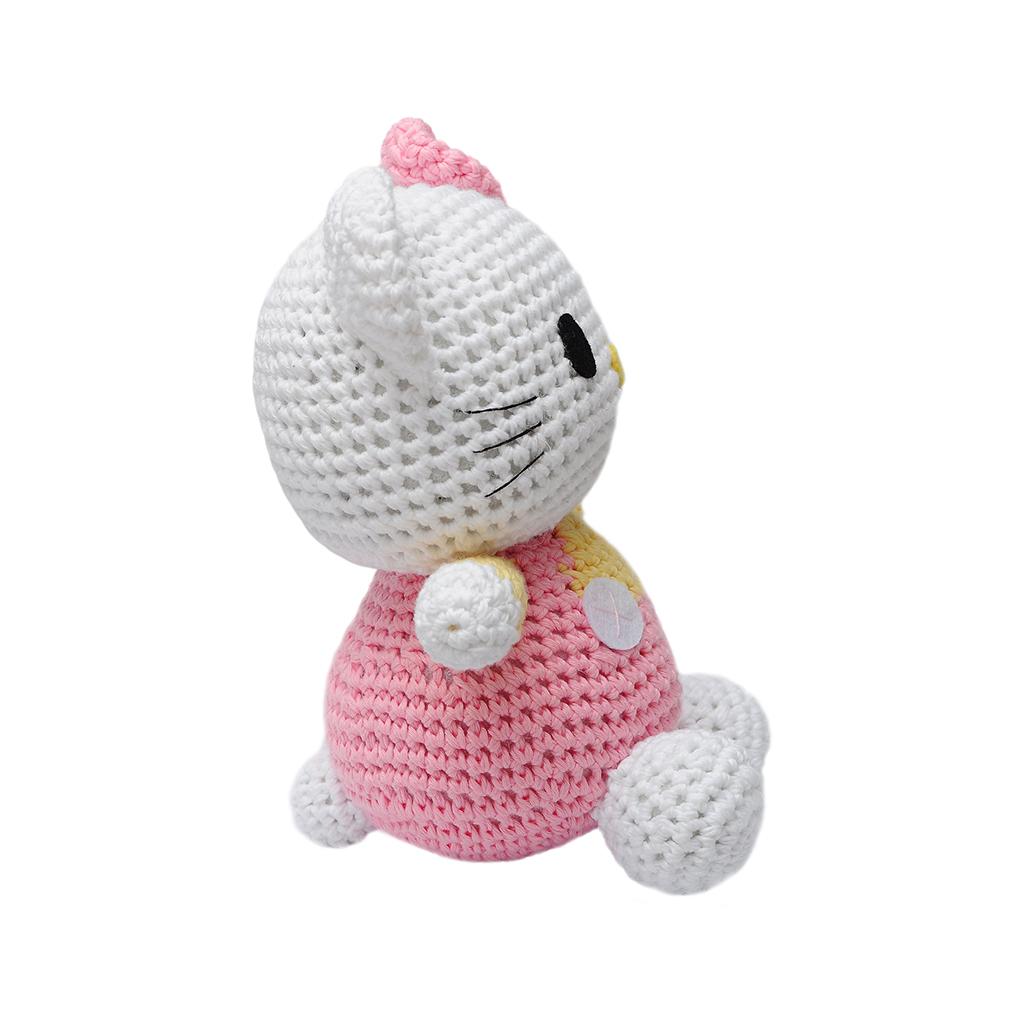 Amigurumi Hello Kitty Hakeln : Pink Hello Kitty Handmade Amigurumi Stuffed Animal Toy ...