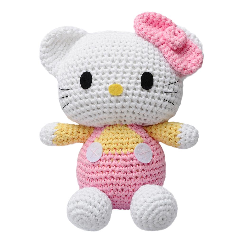 Pink Hello Kitty Handmade Amigurumi Stuffed Animal Toy ...