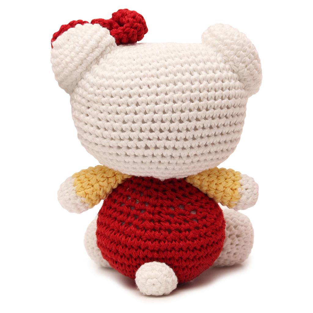 Amigurumi Hearthstone Pattern : Pink Hello Kitty Handmade Amigurumi Stuffed Animal Toy ...