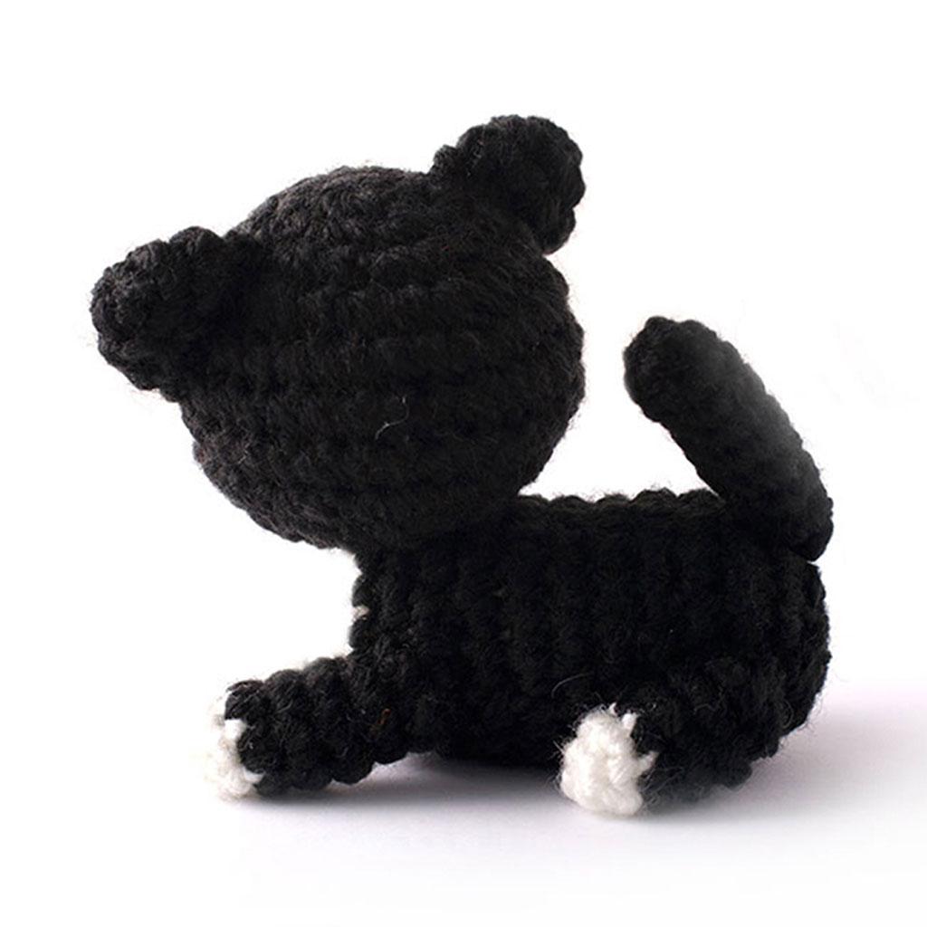 Black Kitten Handmade Amigurumi Stuffed Toy Knit Crochet ...