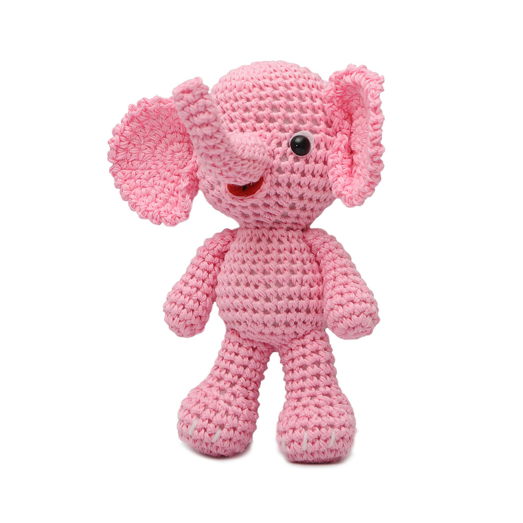 Blue;Pink Elephant Handmade Amigurumi Stuffed Toy Knit ...