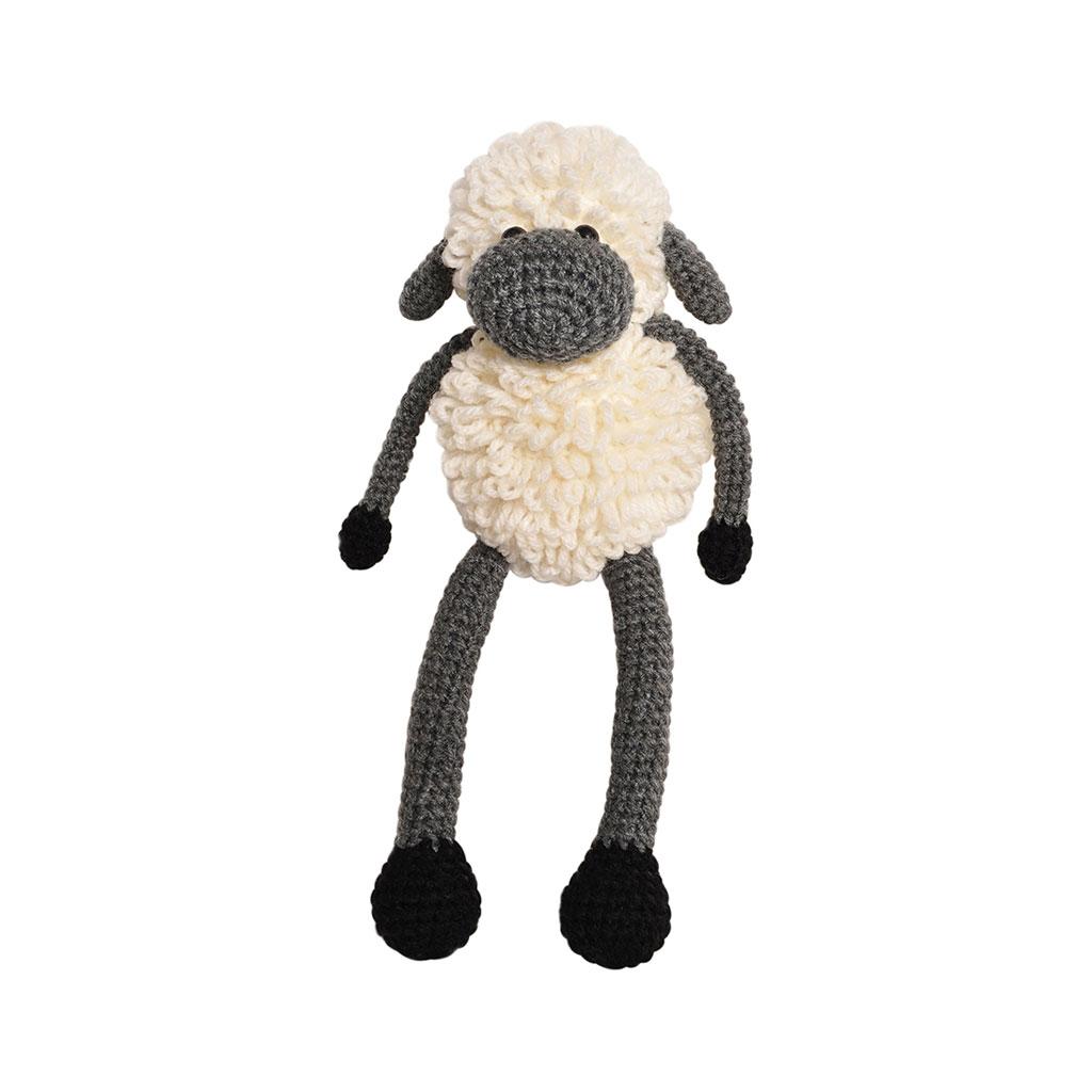 Amigurumi Sheep Doll : Cream-Grey Sheep Handmade Amigurumi Stuffed Toy Knit ...