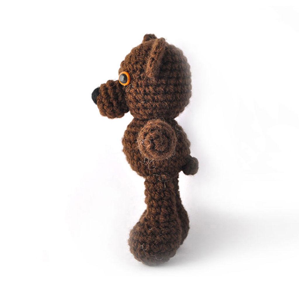 Amigurumi Little Bear : Little Hippo and Bear Handmade Amigurumi Stuffed Toy Knit ...