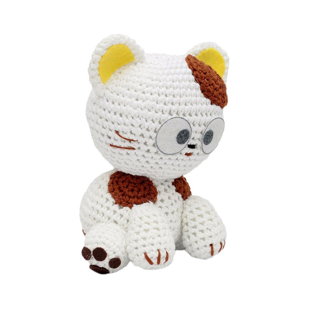 White-Yellow Cats Handmade Amigurumi Stuffed Toy Knit ...