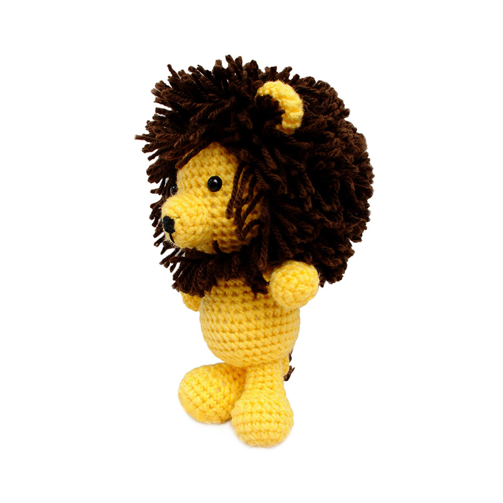 Amigurumi Stuffing : Lion Handmade Amigurumi Stuffed Toy Knit Crochet Doll VAC