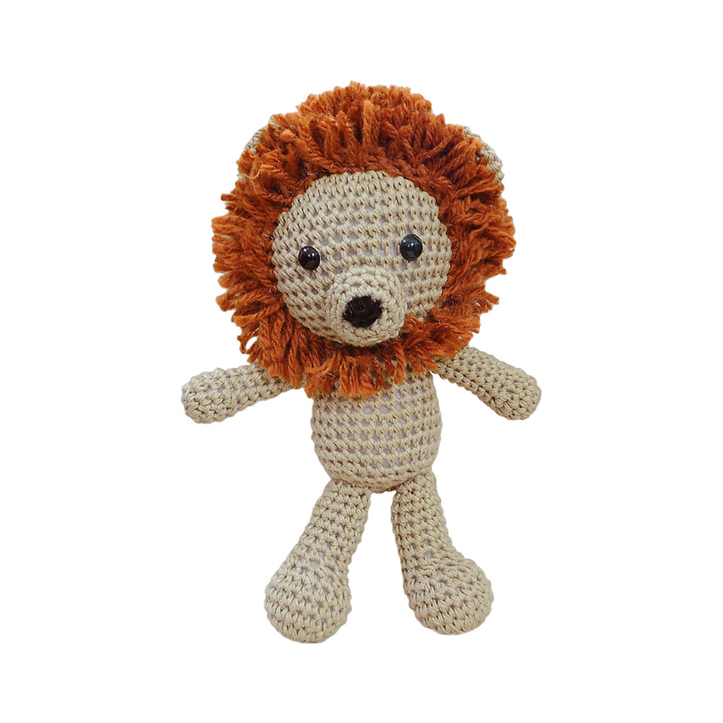 Lion Handmade Amigurumi Stuffed Toy Knit Crochet Doll VAC