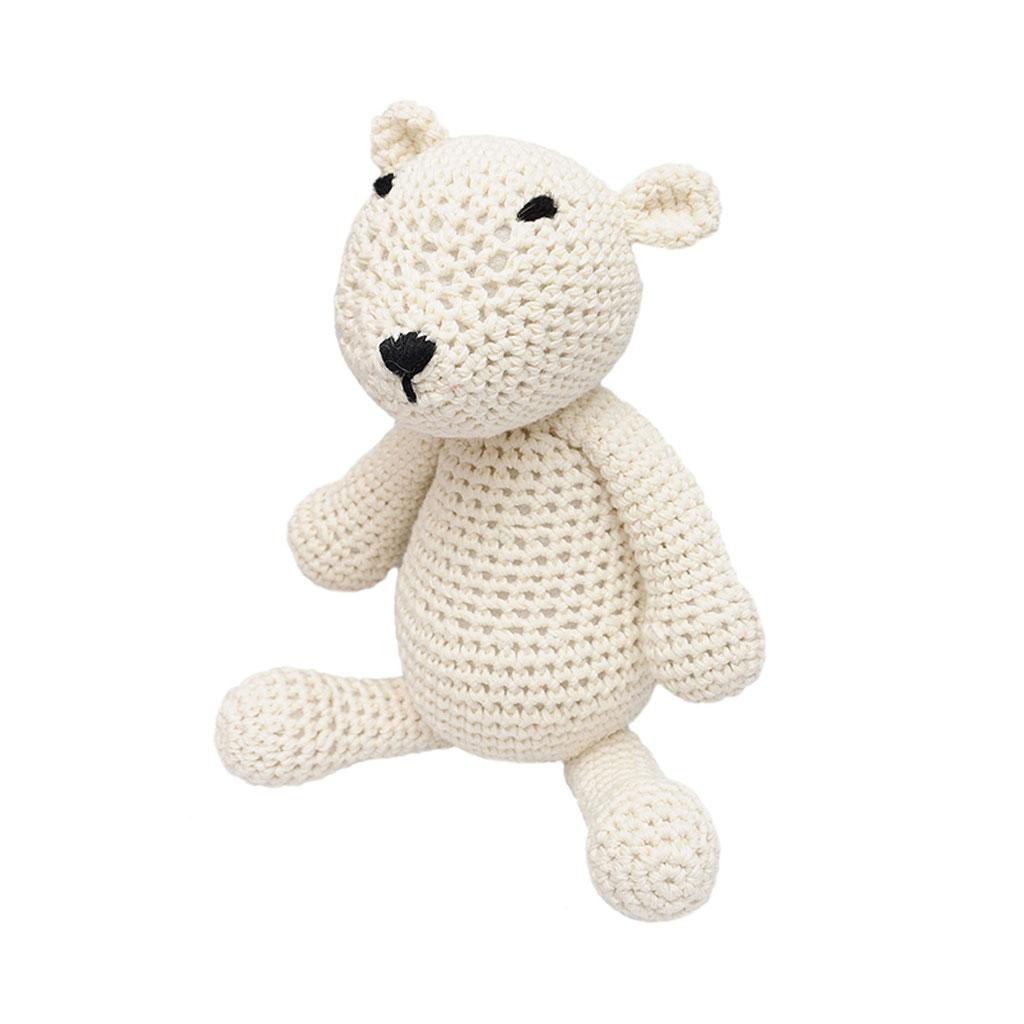 White Polar Bear Handmade Amigurumi Stuffed Toy Knit ...