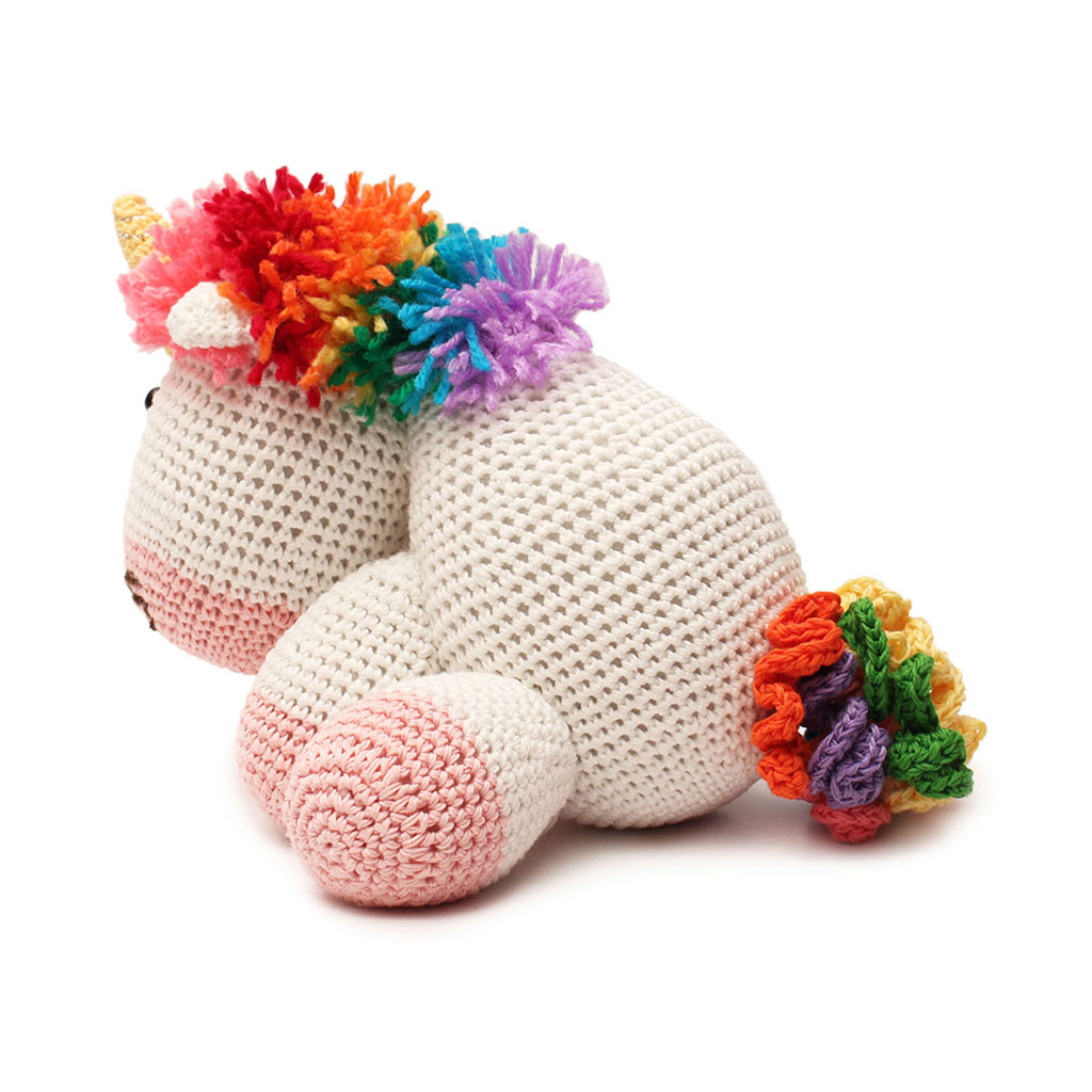 Crochet Unicorn Doll : ... -Unicorn-Handmade-Amigurumi-Stuffed-Toy-Knit-Crochet-Doll-VAC