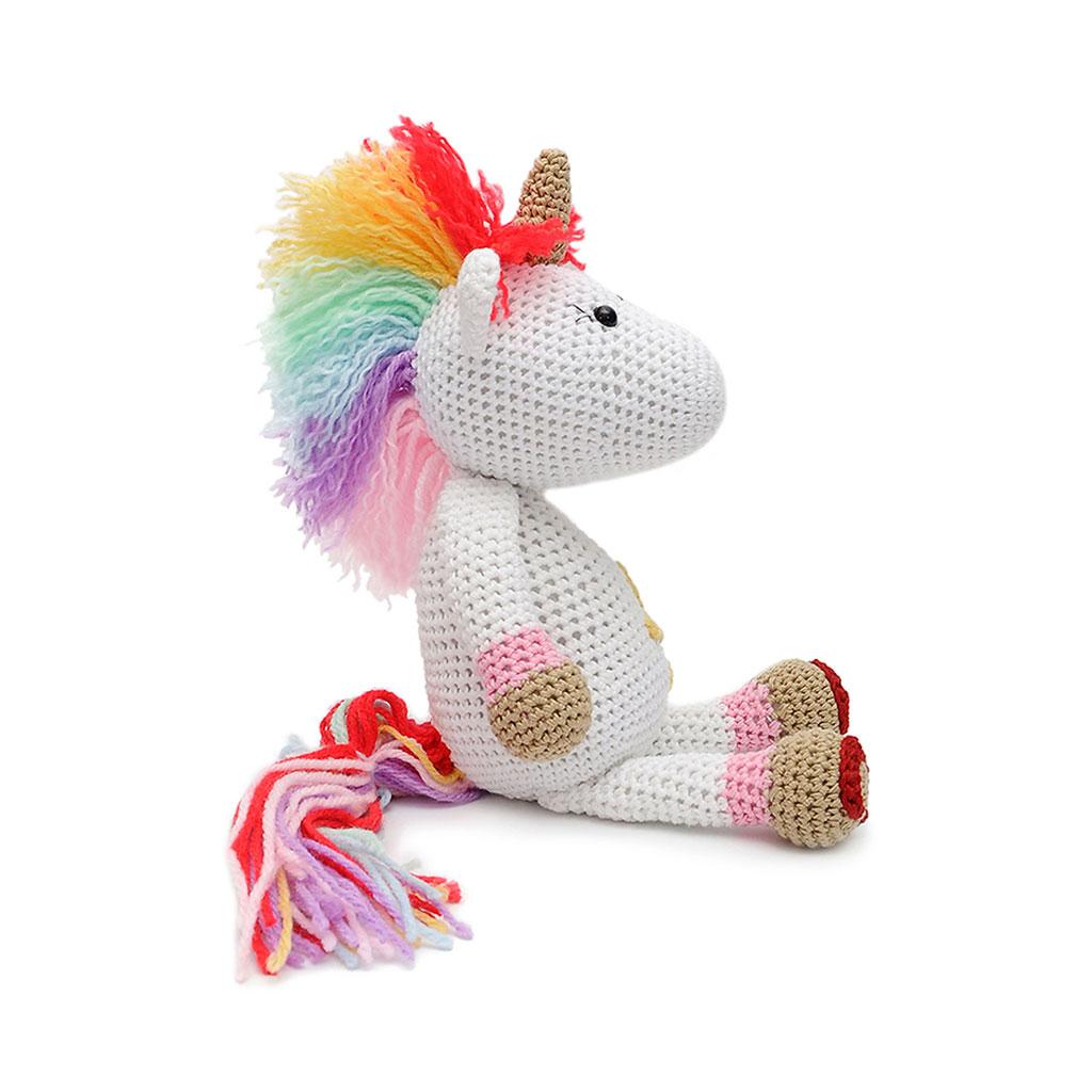 Knitting Pattern For Unicorn Toy : Multicolor Unicorn Handmade Amigurumi Stuffed Toy Knit ...