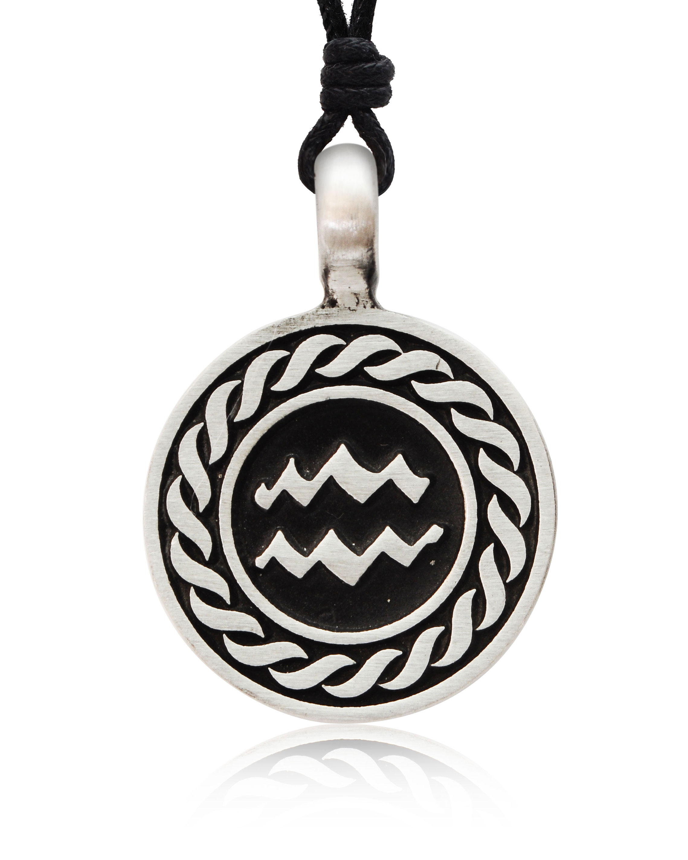 Astrology Sign Horoscope Silver Pewter Charm Necklace ... - photo#25