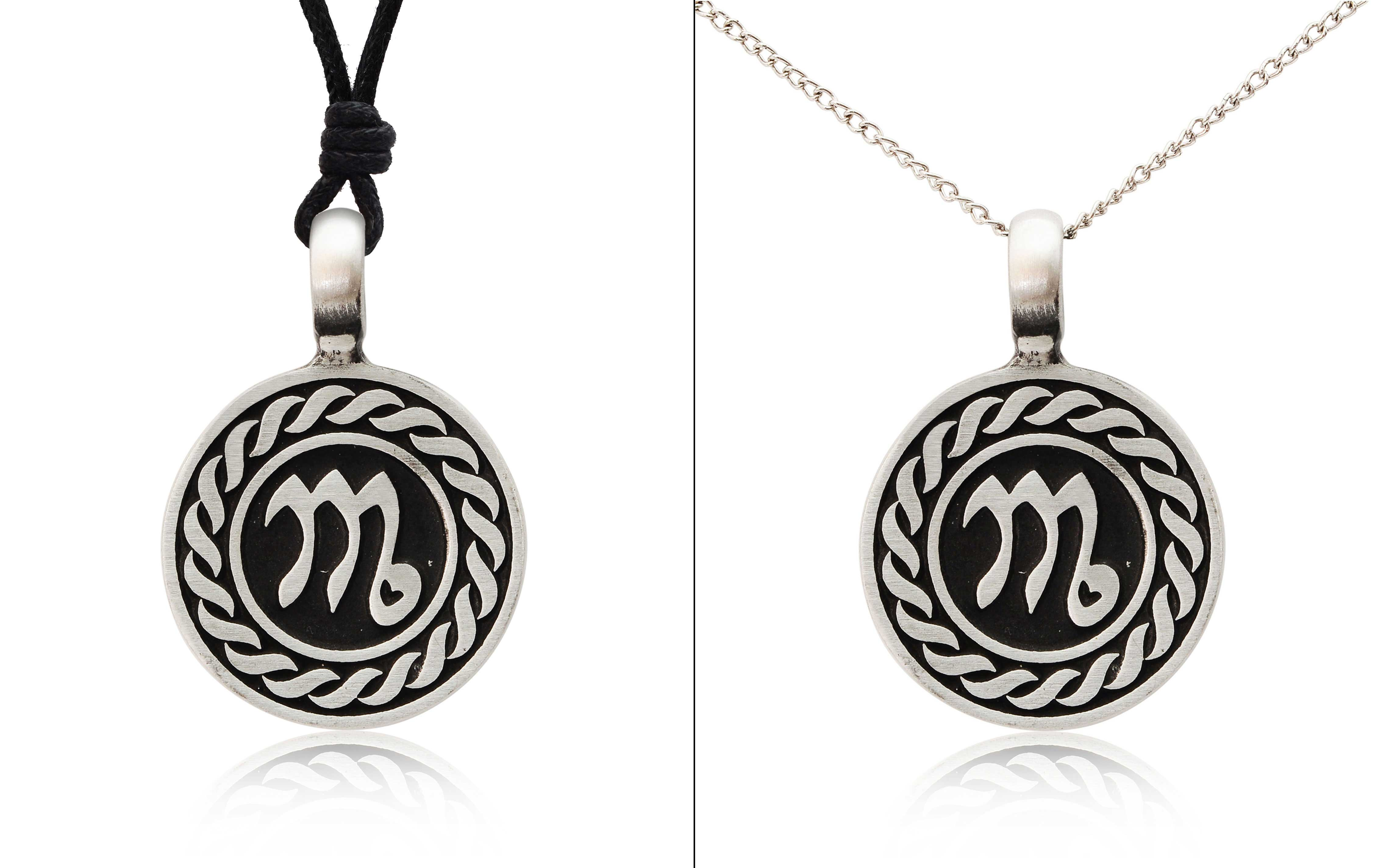 Astrology Sign Horoscope Silver Pewter Charm Necklace ... - photo#21