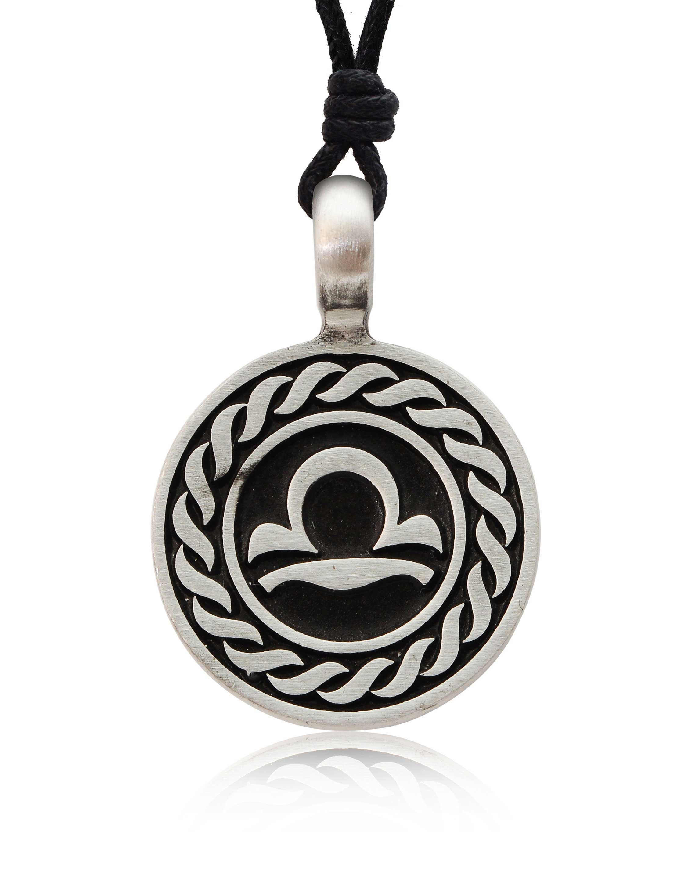 Astrology Sign Horoscope Silver Pewter Charm Necklace ... - photo#29