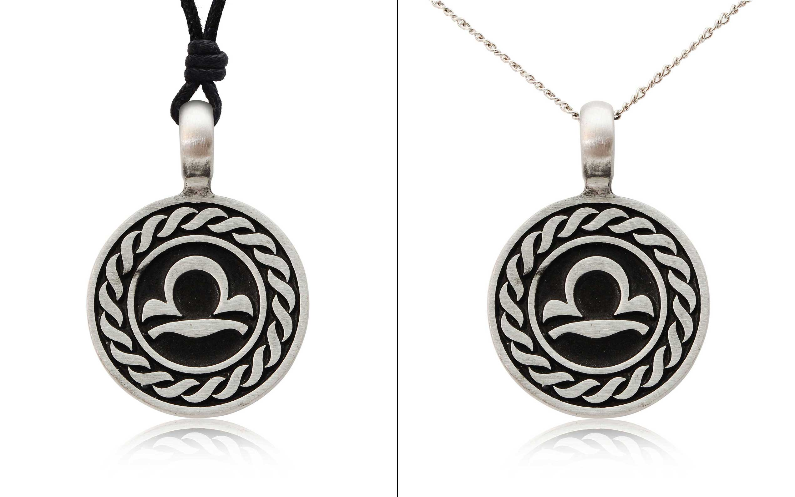 Astrology Sign Horoscope Silver Pewter Charm Necklace ... - photo#35