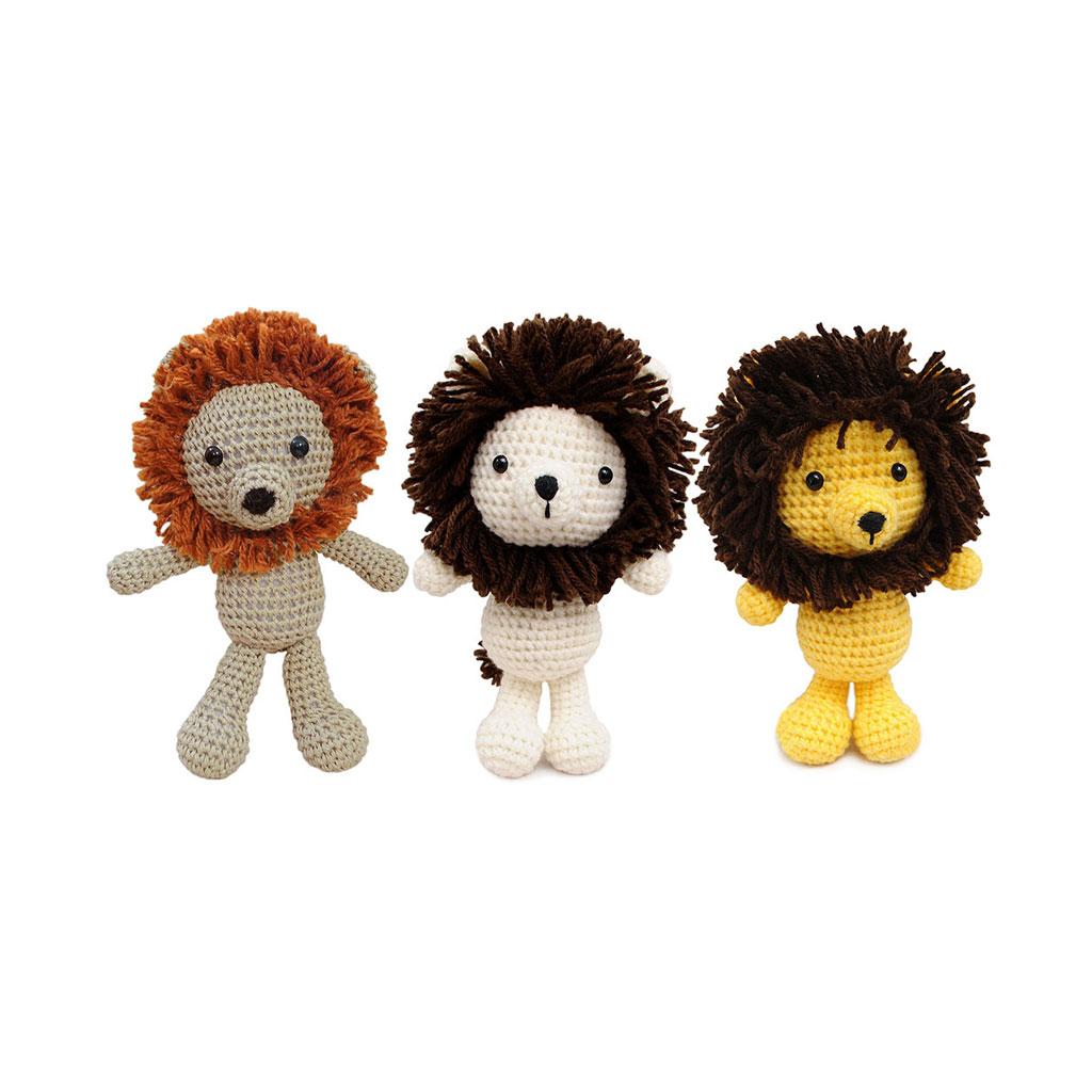 Lion Handmade Amigurumi Stuffed Toy Knit Crochet Doll Vac Ebay