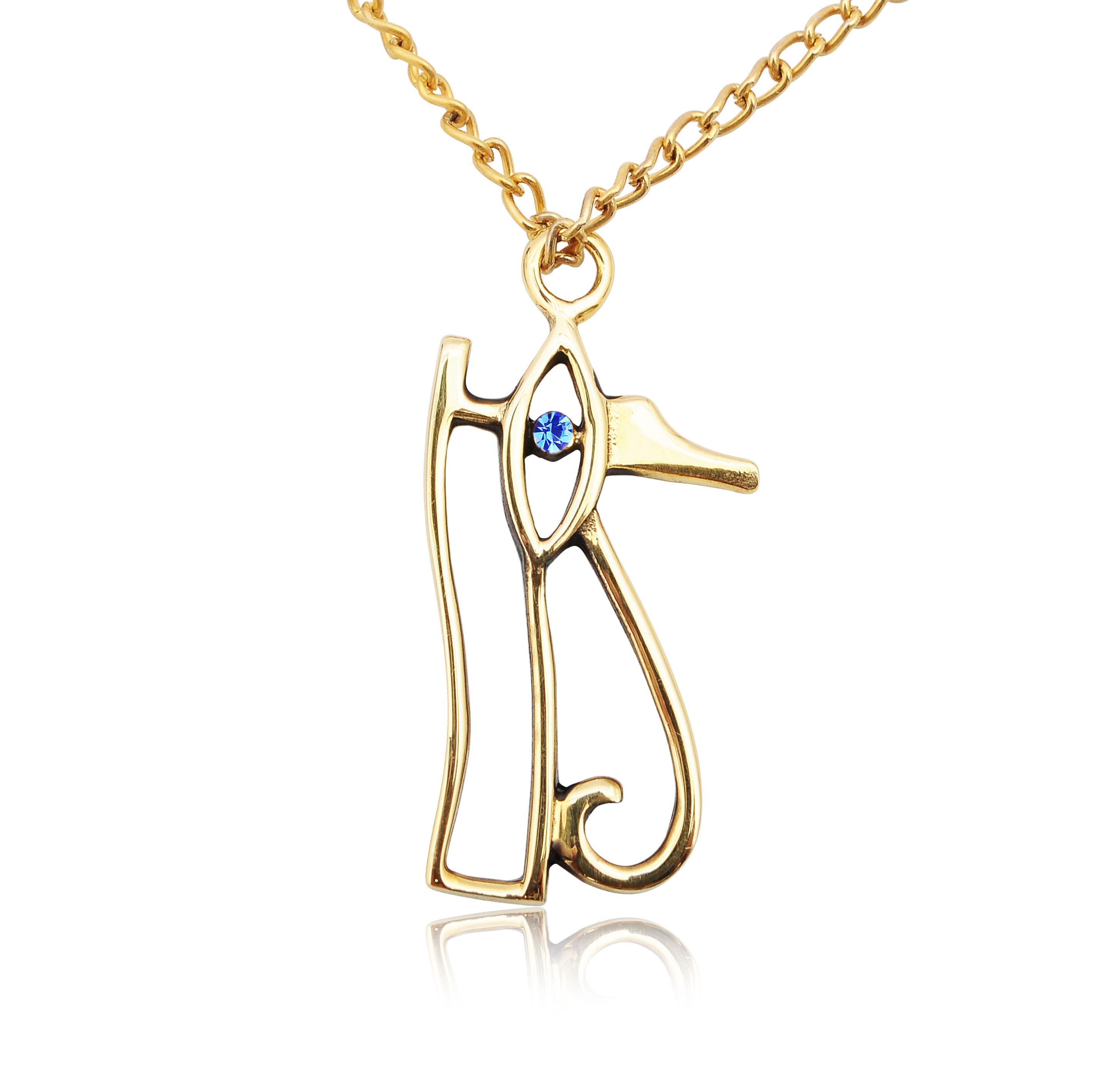 Eye of Ra Horus Egyptian Handmade Brass Gold Charm ...  Eye of Ra Horus...